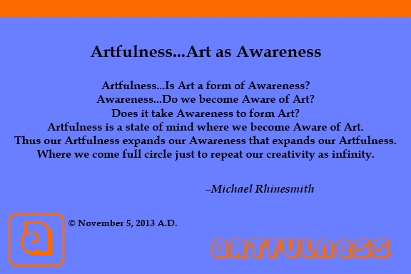 Artfulness - Art as Awareness - 1st edition - AF-10 - Book Antique - Strenuous 3D - PC 4-6