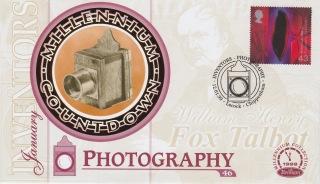 Fox Talbot FDC - British - issued 12-09-99 - Obverse