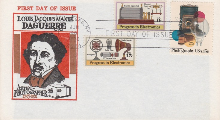 Louis Daguerre FDC - American - issued 06-26-78 - Photography 15c stamp