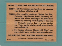 Polaroid Postcarders - Reverse