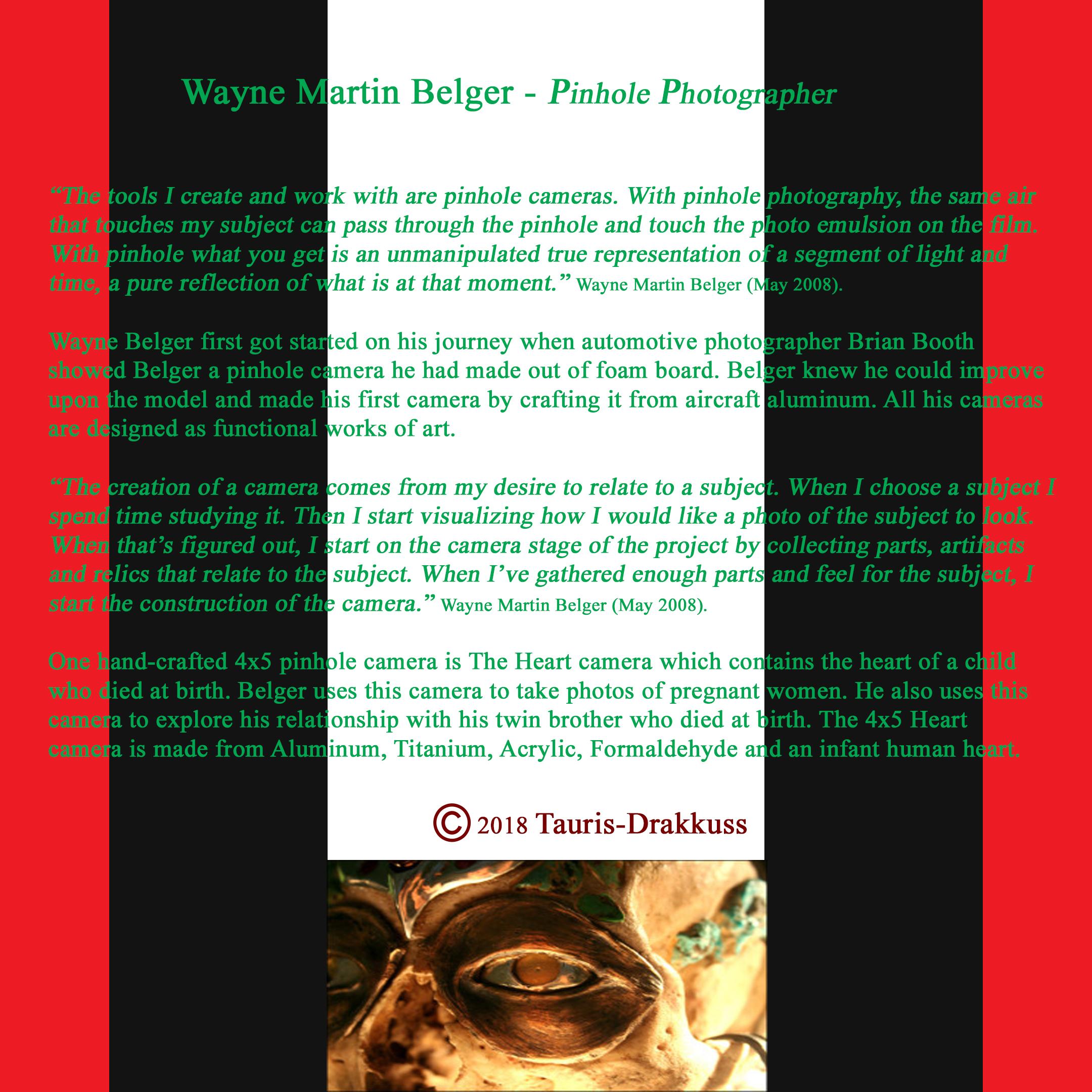 Wayne Martin Belger - Pinhole Photographer